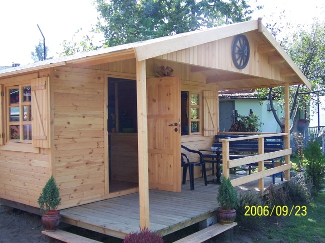 Warbit tartak producent domki drewniane domki for Modern shed prices